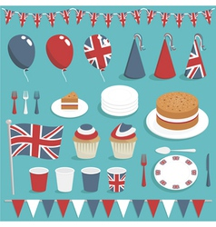 British party set vector