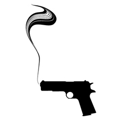 Graphic smoking gun vector