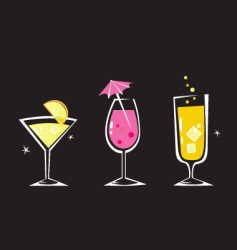 Retro drinks collection vector