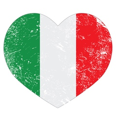 Italy heart retro flag vector