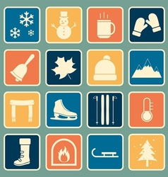 Winter icon vector