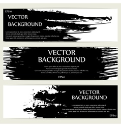 Three grunge banners vector