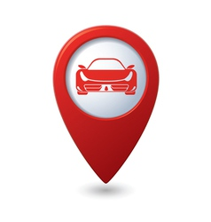 Car red pointer vector