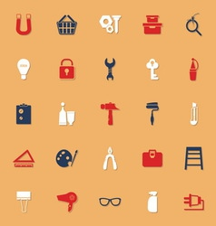 Diy classic color icons with shadow vector