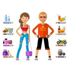 Man and woman logo design template girl vector