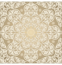 Damask seamless with baroque ornaments vector