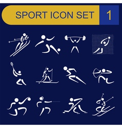 Sport icon set flat style vector