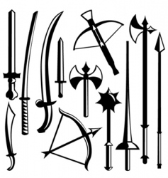 Sword set vector