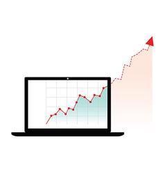 Computer graph growth vector