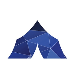Tent boat icon abstract triangle vector