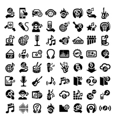 Big music icons set vector