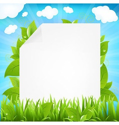 Paper with beams and sprout vector