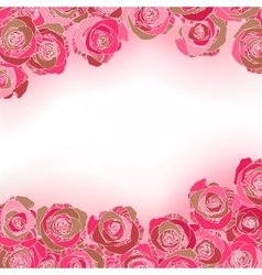 Rose background with copyspace vector