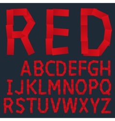 Red paper creative font vector