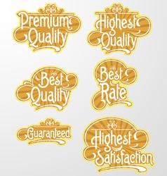 Decorative text label vector