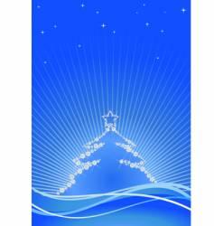 Jewel christmas tree vector