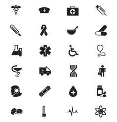 Medical solid icons 1 vector