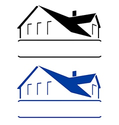 House sign vector
