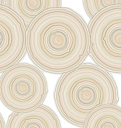Cross section of tree trunk isolated on white vector