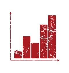 Red grunge chart logo vector