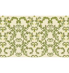 Rococo textile design vintage vector
