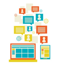 Flat modern mobile communication technology vector