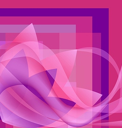 Pink flower with waves on a square gradient vector