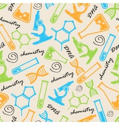 Seamless background with laboratory equipment vector