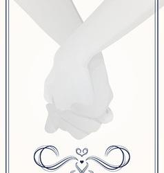 Holding hands wedding vector