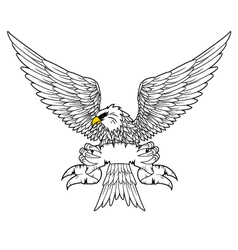 Fury spread winged eagle tattoo vector