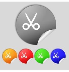 Scissors hairdresser sign icon tailor symbol set vector