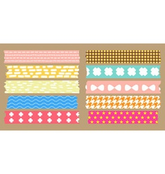 Masking tape collection vector