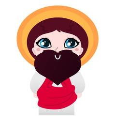 Cute cartoon jesus christ character vector