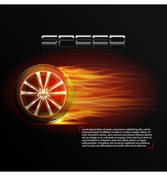 Burning wheel vector