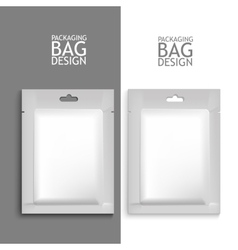 Mockup blank foil packaging vector