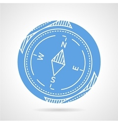 Compass blue icon vector