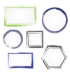 Set of painted frames vector