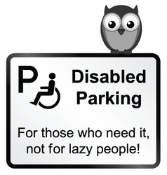 Disabled parking vector