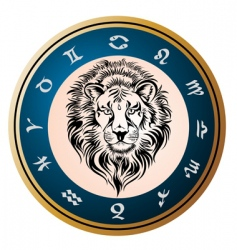 Zodiac signs of leo vector
