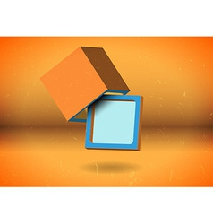 Abstract cube screen vector