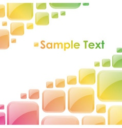 Colorful glossy squares abstract background vector