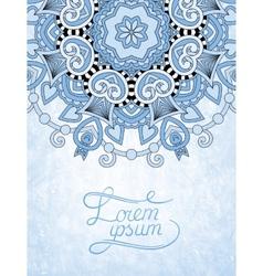 Blue colour flower design on grunge background vector
