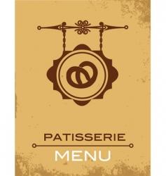 Pastry menu vector