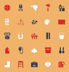 Diy tool classic color icons with shadow vector
