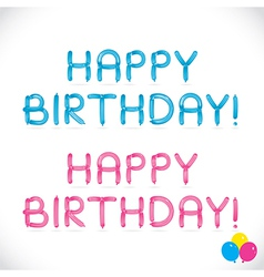 Balloon happy birthday phrase vector