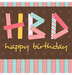 Masking tape hbd card vector