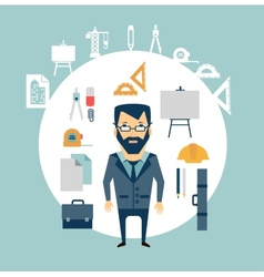 Architect of working tools vector