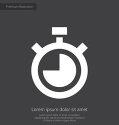 Timer premium icon white on dark background vector