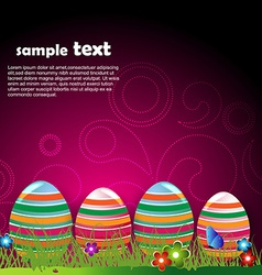 Funky easter egg vector