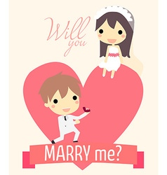 Romance propose couple vector